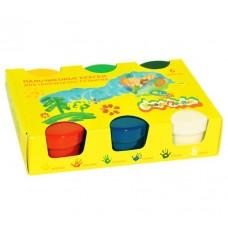 Каляка-Маляка  Краски пальчиковые для малышей 60мл 6цв. карт. уп. 1+