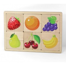 Десятое кор.   Игра дерев. 00737 Фрукты, ягоды