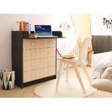 Мебель-Комплекс Комод раскладной КР 80/5 ЛДСП Дуб Млечный Темный/Венге Цаво (2 пак.)