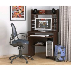 Мебель-Комплекс СК-01Н Стол компьютерный Венге Цаво (1 пак.)