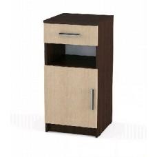 Мебель-Комплекс Агат ПР-Т2 Тумба с дверкой и ящиком Венге Цаво/Дуб Млечный (2 пак.)