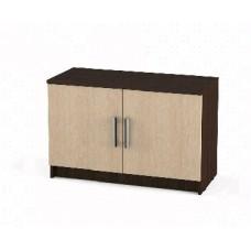 Мебель-Комплекс Агат ПР-Т4 Тумба двухстворчатая низкая Венге Цаво/Дуб Млечный (2 пак.)