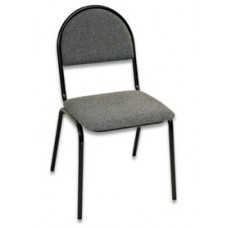 OLSS стул СМ-7 ткань серая В-3 рама окрашенная черной порошковой краской