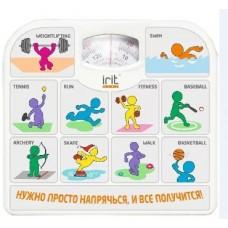 Весы напольные IRIT IR-7312 спорт