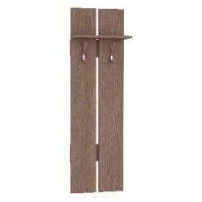 Мебель-Комплекс Вешалка на 2 крючка Агат Шимо Ясень Темный (1 пак)