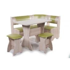 БИТЕЛ Набор мебели для кухни ТЮЛЬПАН Ясень/Cалат С-105 Бежевый С-101 (4 кор)