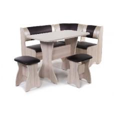 БИТЕЛ Набор мебели для кухни ТЮЛЬПАН Ясень/Шоколад С-221 Бежевый С-101 (4 кор)