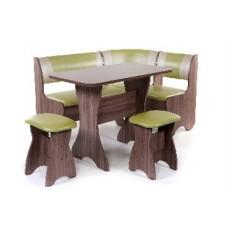БИТЕЛ Набор мебели для кухни ТЮЛЬПАН Шимо Ясень темный/Cалат C-105 Бежевый C-101 (4 кор)