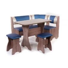 БИТЕЛ Набор мебели для кухни ТЮЛЬПАН Шимо Ясень темный/Синий С-114 Бежевый С-101 (4 кор)