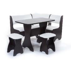 БИТЕЛ Набор мебели для кухни ТЮЛЬПАН Венге/Милк (молочный) (4 кор)