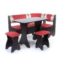 БИТЕЛ Набор мебели для кухни ТЮЛЬПАН Венге/Красный С-112 Бежевый С-101 (4 кор)