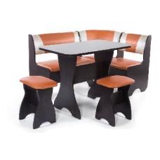БИТЕЛ Набор мебели для кухни ТЮЛЬПАН Венге/Терракот С-120 Бежевый С-101 (4 кор)