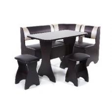 БИТЕЛ Набор мебели для кухни ТЮЛЬПАН Венге/Шоколад С-221 Бежевый С-101 (4 кор)