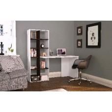 Мебель-Комплекс Стол компьютерный Олаф белый/венге цаво (2уп)