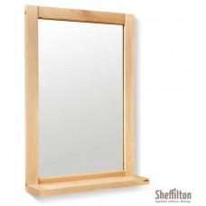 SHEFFILTON Зеркало с полкой Альберо SHT-М2 прозрач. лак