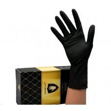 SAFE&CARE TN-358 перчатки нитриловые, размер XS, черные (200)