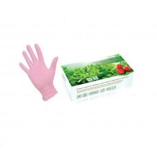 SUNVIV TN-316 перчатки нитриловые, размер M, розовые (100)