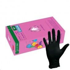 SAFE&CARE LN-31-58 перчатки нитриловые, размер M, черные (100) (не медицинские)